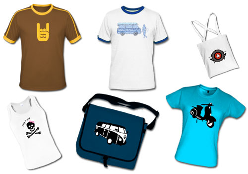 Tshirt and bag designs for online clothing store Icon Tshirts